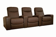 Home Theater Seating Cannes in Brown - Row of 3