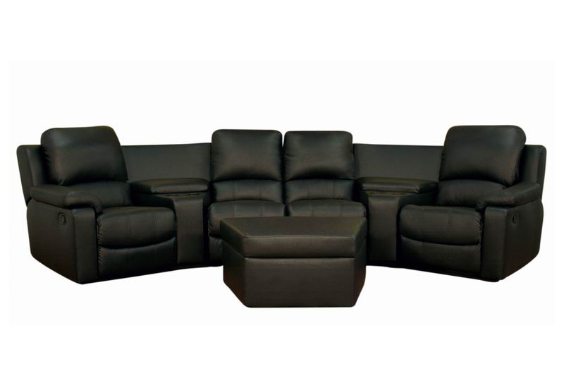 7 Piece Home Theater Seating Sectionals In Black Brown Affordable Modern Fu