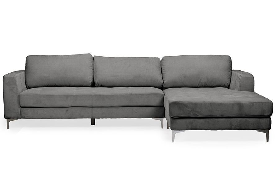 Baxton Studio Agnew Contemporary Grey Microfiber Right Facing Sectional Sofa - BSOU9320S-LRCC-RFC ...  sc 1 st  Baxton Studio Outlet : right facing sectional - Sectionals, Sofas & Couches