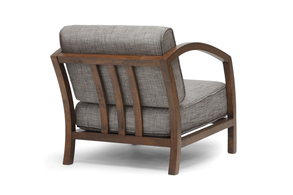 Baxton Studio Velda Brown Modern Accent Chair Affordable