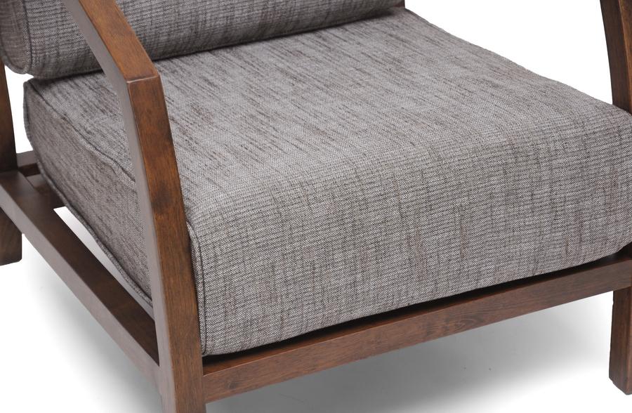 Baxton Studio Velda Brown Modern Accent Chair Affordable