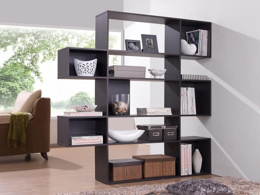 Modern Shelf lanahan dark brown 5-level modern display shelf | affordable