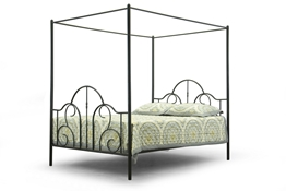 Baxton Studio Monticello Metal Contemporary Queen-Size Canopy Bed Affordable modern furniture in Chicago, Monticello Metal Contemporary Queen-Size Canopy Bed, Bedroom Furniture Chicago