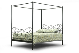 Baxton Studio Antiquity Metal Contemporary Queen-Size Canopy Bed Affordable modern furniture in Chicago, Antiquity Metal Contemporary Queen-Size Canopy Bed, Bedroom Furniture Chicago