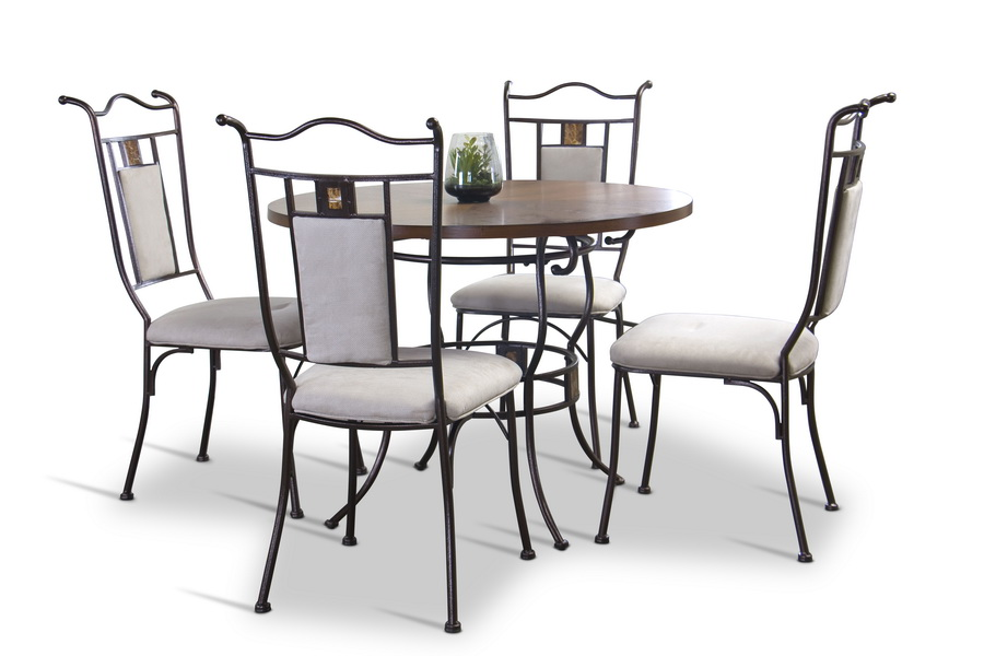 Baxton Studio Tirana Wood And Metal 5 Piece Transitional Dining Set Afforda