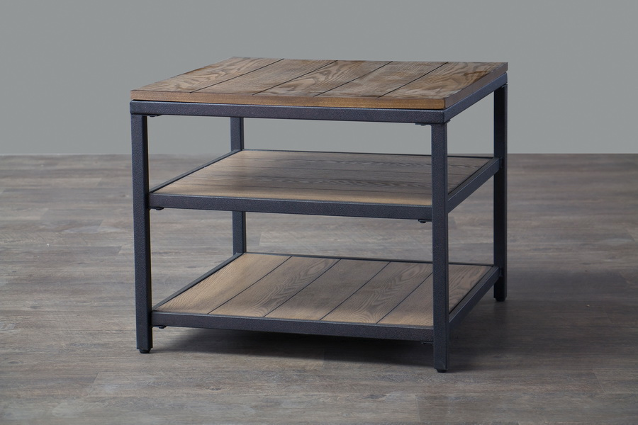 Elegant ... Baxton Studio Caribou Wood And Metal End Table   BSOYLX 0005 AT ...