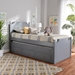 Baxton Studio Mariana Traditional Transitional Grey Finished Wood Twin Size 3-Drawer Storage Bed with Pull-Out Trundle Bed - BSOMariana-Grey-3DW-Twin