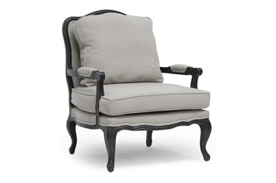Baxton Studio Antoinette Classic Antiqued French Accent Chair $318
