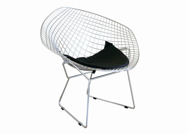 Baxton Studio Bertoia Style Wire Diamond Chair $112