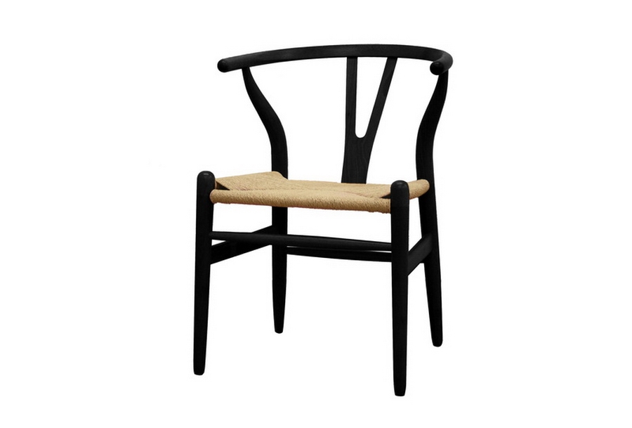 Baxton Studio Wishbone Chair � Black Wood Y Chair $118