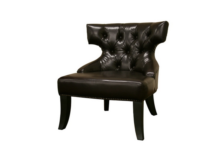 Baxton Studio Taft Dark Brown Leather Club Chair $168