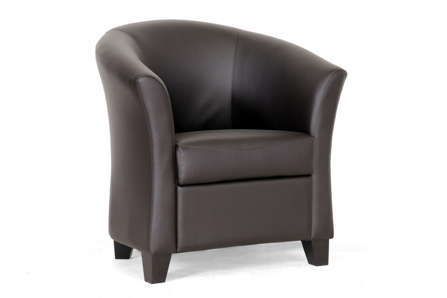 Baxton Studio Anderson Modern Brown Club Chair $137