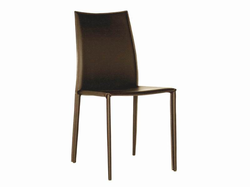 Baxton Studio Rockford Brown Leather Dining Chair $86
