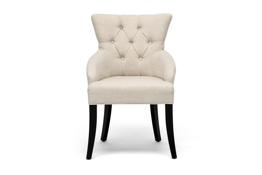 Baxton Studio Halifax Beige Linen Dining Chair $97