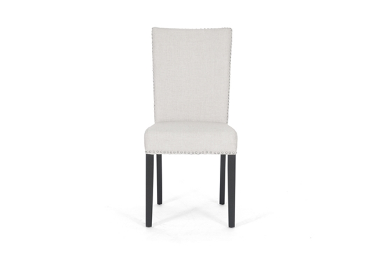 Baxton Studio Harrowgate Beige Linen Modern Dining Chair $77