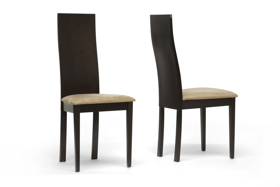 Baxton Studio Geneva Dark Brown Modern Dining Chair $54