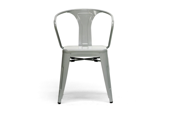 Baxton Studio French Industrial Modern Dining Chair in Gray $63