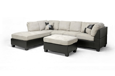 Mancini Modern Sectional Sofa and Ottoman Set  $505