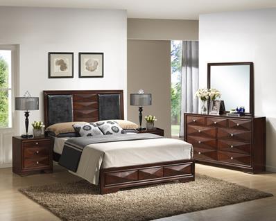 Baxton Studio Windsor Brown 5-Piece Modern Bedroom Set - Queen Size ORG $860 SALES PRICE $774